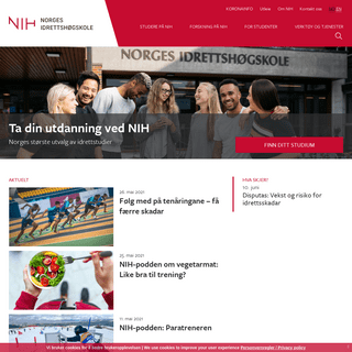 Nordens beste idrettsutdanning - Norges idrettshøgskole