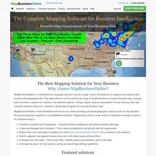 Business Mapping Software - The Complete Mapping Software for Business Intelligence