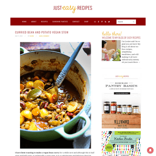 Just Easy Recipes - Easy Recipes, Cooking Tips and Entertaining Ideas - South Africa