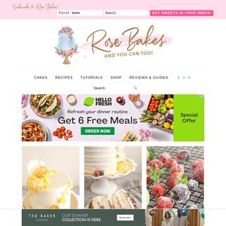 Rose Bakes - Cake Decorating, Baking, Tutorials, Recipes, Cake Photos & Inspiration