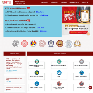 Nptel, online courses and certification, Learn for free