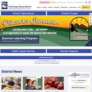 Anchorage School District - Anchorage School District Homepage