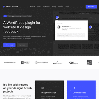 Organized client feedback for designers and developers. - ProjectHuddle