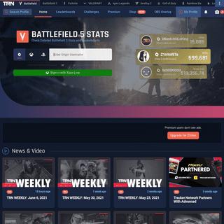 Battlefield 5 Stats, Leaderboards & More! - Battlefield Tracker