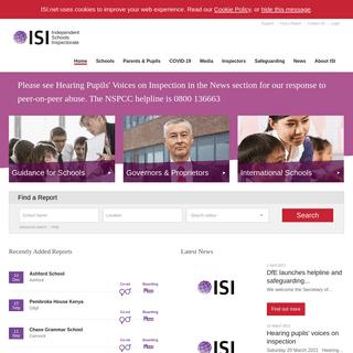 Home -- Independent Schools Inspectorate