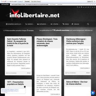 Info Libertaire - Actualité militante et info anarchiste