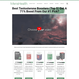 Best Testosterone Boosters (Top 5) Get A 71- Boost From Our #1 Pick- – CIIT – Mens Health