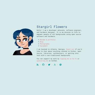 Thea -Stargirl- Flowers - Open source advocate
