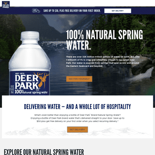Bottled Water - Deer Park® Brand Natural Spring Water