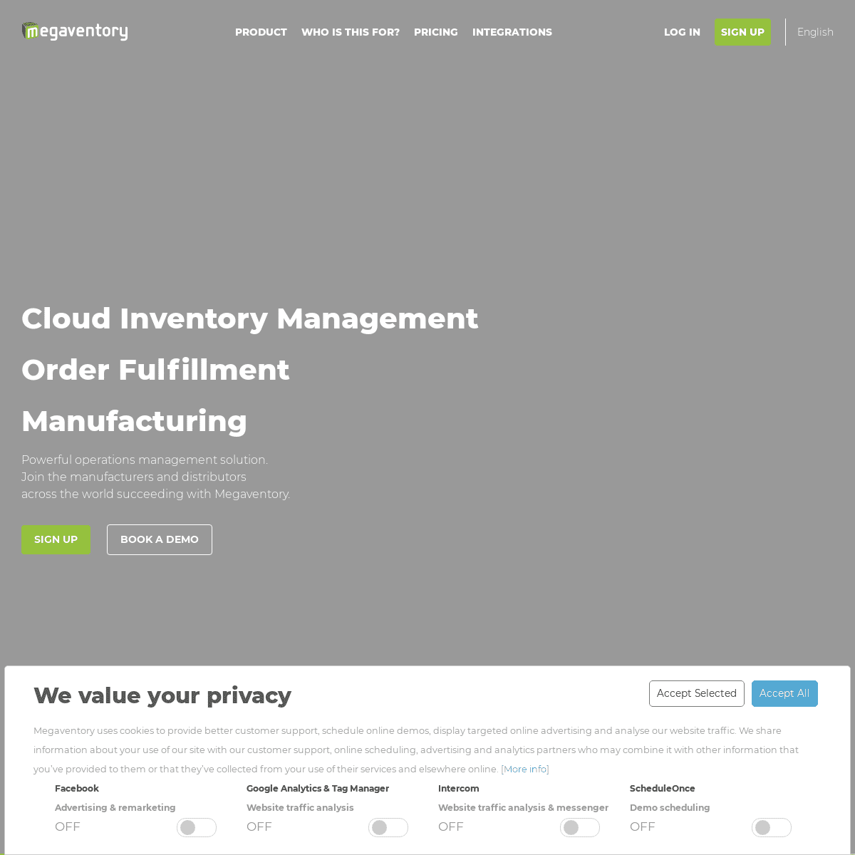 Inventory Management - Order fulfillment - Manufacturing