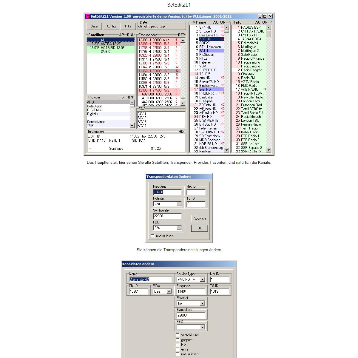 SetEditZL1 Screenshots