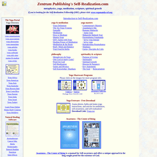 Self-Realization.com - Articles and Software on Yoga, Meditation and Spiritual Growth