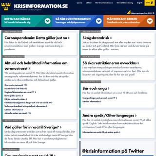 Krisinformation.se - Information från svenska myndigheter, länsstyrelser och kommuner