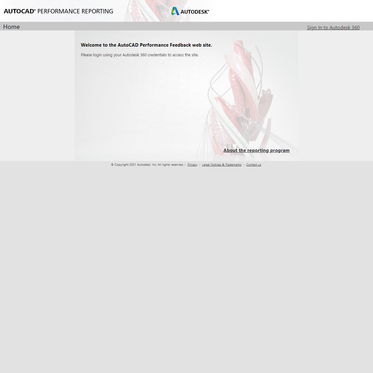 Home - AutoCAD Performance Problem Reporting Portal