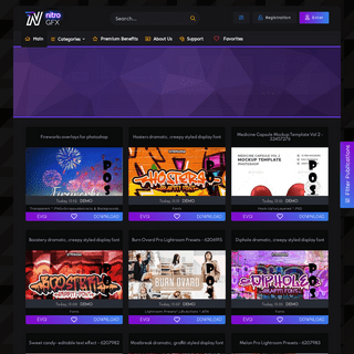 NitroGFX - Download Unique Graphics For Creative Designers
