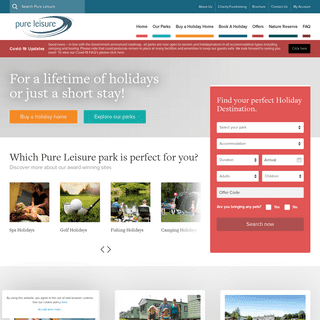 Holiday Parks & Leisure Parks in the UK - Pure Leisure