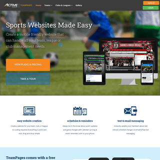Sports Website Software - Create Your League or Team Website Today