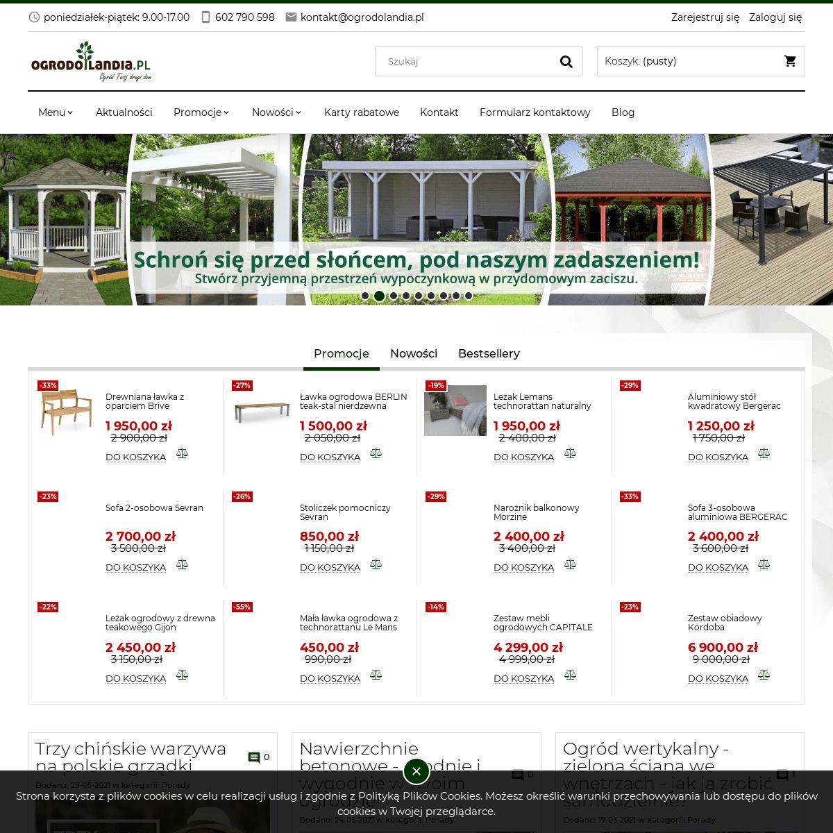 Ogrodolandia.pl - sklep z meblami i architekturą ogrodową