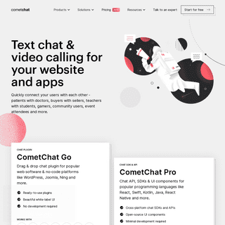 Add text, voice, and video chat to your app - CometChat