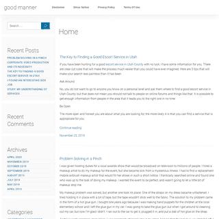 good manner – My WordPress Blog