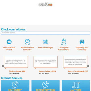activ8me - nbn™, Internet & Home Phone Service Providers
