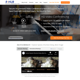 Secure Web Conferencing, Video Conferencing, Remote Support, Remote Access Servers - R-HUB