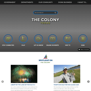 The Colony, TX - Official Website