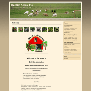Welcome - BobCat Acres, Inc.