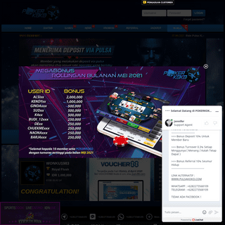 Bandar Judi Poker Online Deposit Pulsa Telkomsel dan XL