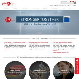Industrial Laser Solutions Manufacturer - SPI Fiber Laser Products