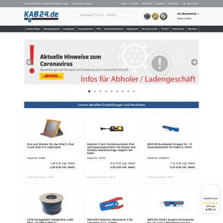 Kabel Onlineshop mit Top-Preisen - Kab24 GmbH Eppelheim bei Heidelberg