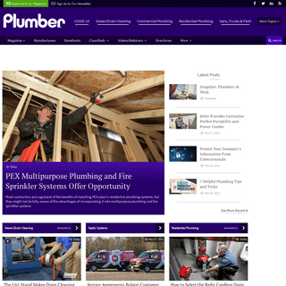 Exclusively Serving Plumbing Contractors and… - Plumber Magazine
