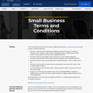 Small Business Terms and Conditions - Comcast Business