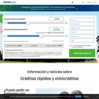 Créditos rápidos, Minicréditos y Préstamos personales - WannaCash