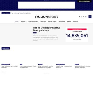 Tycoonstory Media - Online Network for Entrepreneurs & Startups.