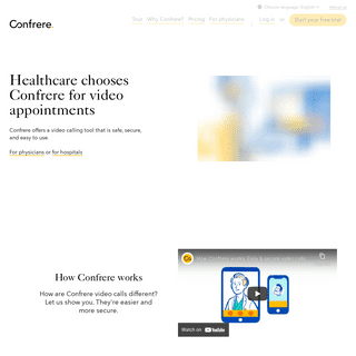 Confrere - Professional video calling, without the hassle