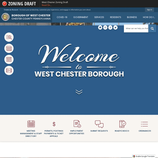 West Chester Borough, PA - Official Website - Official Website