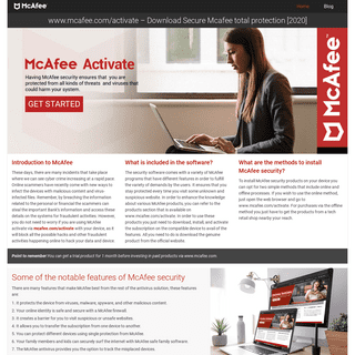 www.mcafee.com-activate - Download McAfee Total Protection [2020]