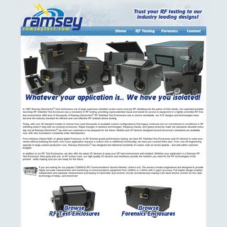 Ramsey RF Shielded Test & Forensics Enclosures - Ramseytest.com