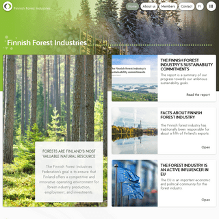Forests are Finland`s most valuable natural resource - Finnish Forest Industries Federation