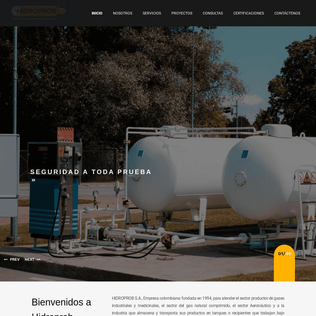 HIDROPROB – Atendemos el sector productor de gases industriales y medicinales, el sector del gas natural comprimido, el sector