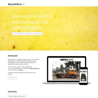 BananAlbum • Create refined web galleries for your photography