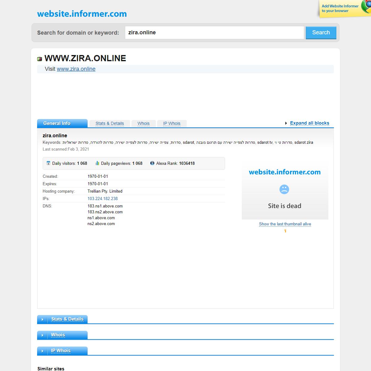 zira.online at WI. zira.online