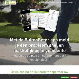 BuitenBeter - Snel en makkelijk melden met je Smartphone. Werkt in heel Nederland!