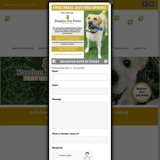 Passion for Paws – Passion For Paws is Essex's most popular doggy daycare providing all your dogs needs under one Woof! Our
