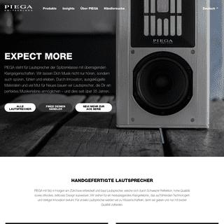 PIEGA - Handgefertigte Lautsprecher - Swiss Made