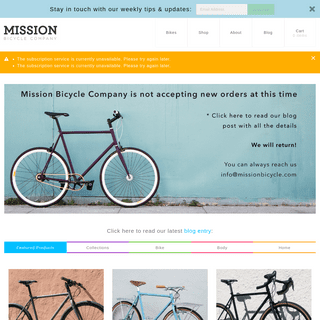 Home - Mission Bicycle