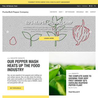 Puckerbutt Pepper Company creators of the world's hottest pepper and intensely flavorful hot sauces – Puckerbutt Pepper Comp