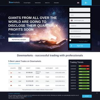Dowmarkets – Best Forex Broker For Trading Online - Dowmarkets