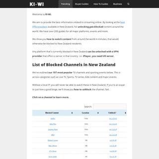 Ki-Wi - Unlock Geo Blocked Movies & Live Sport Fast